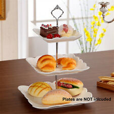 3 Tier Cake Cupcake Dessert Plate Stand Crown Handle Fitting Rack Wedding Party
