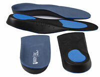 X1 pair of each 3/4 and full length Bodytec orthotic insoles
