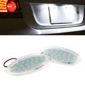 2x 24LED License Plate Lights Lamps For Opel Astra F hatchback Corsa B Vectra au