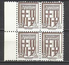 4097-sellos locales Barcelona pruebas 25 pesetasx4.essay proof ensayos,nuevos **