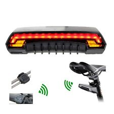 Laser Bicycle Tail Light Turn Signals Automatically Control Wireless Remote