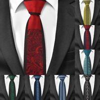 Formal Skinny Neck Ties For Men Casual Slim Tied Suit Necks Wear Floral Pattern