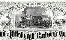 Cleveland and Pittsburgh Railroad Company SHS ferrovia azione ordinaria 1964 usa vapore