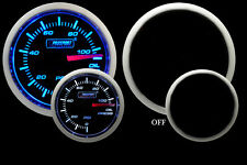 "Oil Pressure Gauge- Electrical- Blue / White 52mm(2 1/16"") Inc. Sender-Prosport"