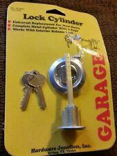 Garage Door Lock Key Lock Cylinder. Hardware Junction. USA MADE. NOS. 2-keys.