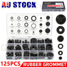 125x Rubber Grommet Assortment Firewall Hole Plug Electrical Wire Gasket Set AU