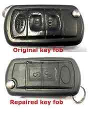 Servizio di riparazione per Range Rover l322 3 Pulsante Flip Remoto Portachiavi + nuovo caso