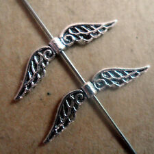 20pcs Tibetan Silver Angel wings Spacer Beads retro Accessories Wholesale PJ162
