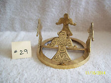 Pretty Brass~Angel Candlestick Centerpiece~May be Decorated (#29)