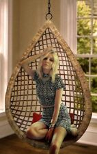 Tear Drop Hanging Cane Wicker Swing Egg Chair