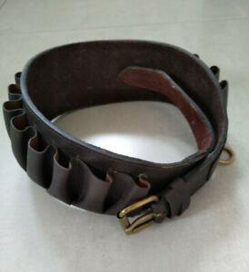 Conway of London leather closed loop shotgun cartridge belt (12G)