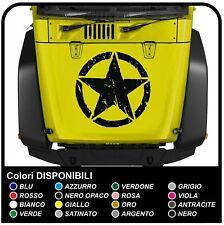 adesivo cofano per jeep Wrangler e Willys stella effetto consumato sticker