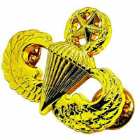 US ARMY Airborne MASTER Parachutist Paratrooper Jump Wings Pin GOLD PLATED Badge