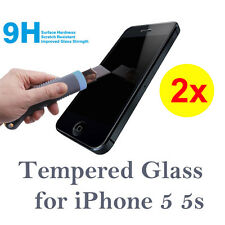 2x Tempered Glass Screen Protector Film for Apple iPhone 5 / 5S  SE Anti Scratch