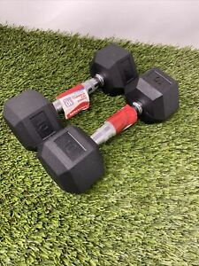 Pair (2) of Weider 10lbs Rubber Hex Dumbbell Pair Comes With 20Ibs Total Look🔥