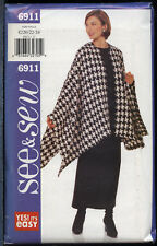 Butterick 6911 Sewing Pattern Oversized Cape~Tunic~Skirt Sizes 20 22 24 UC OOP