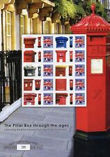 2009 Pillar Box Through the Ages Limited edition Stamp Sheet.