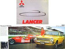 Mitsubishi Colt Lancer 1200 1400 1600 1977 Original UK Sales Brochure