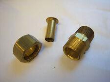 Brass fitting all-tube adaptor 1/2X3/8