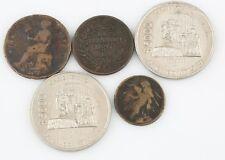 Mexico Mexican Coins 1833 1/8 & 1858 1/4 Real 1897 1 Centavo 1988 5000 Pesos