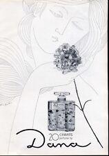 "1965 Dana ""20 Carats"" Perfume ART Drawing PRINT AD"