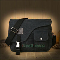 New Unisex Canvas Vintage School Satchel Crossbody Messenger Shoulder Casual Bag