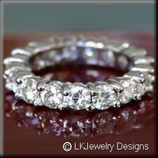 3.00 CT MOISSANITE FOREVER ONE GHIFULL ETERNITY COMMON PRONG BAND RING