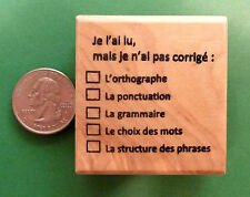 """""""Unedited"""" - French Teacher's Rubber Stamp"""