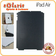 iPad Air Black Carbon Fibre Vinyl  Back Skin Sticker Protection Decoration Cover