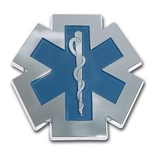 EMS Blue and Chrome Car Auto Truck Emblem Made in the USA! (NEW)