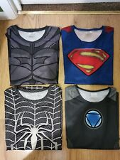 MARVEL Bundle 4 Mens Printed T-Shirts Spiderman, Ironman, Superman,