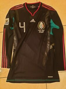 Mexico 2010 Away Long Sleeve Jersey Techfit Adidas Player Issue