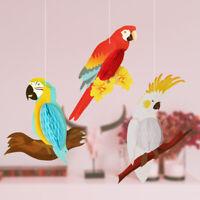 Honeycomb Parrots Rainbow Hanging  Decoration Party Supplies Paper Pendant