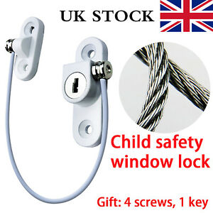 Door Window Restrictor Safety Cable Lock Wire Kids Child Security Locks Tools UK