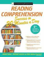 Reading Comprehension Success in 20 Minutes a Day: By Learning Express Editor...