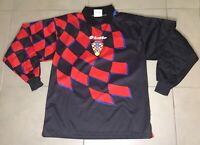 Mens Lotto CROATIA 1998 Sz L World Cup Goalkeeper Black soccer jersey VTG 90