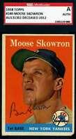 Bill Moose Skowron SGC Coa Autograph 1958 Topps Hand Signed