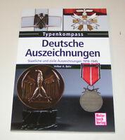 Deutsche Auszeichnungen - Staatliche und zivile Auszeichnungen - 1919 bis 1945