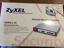 ZyXEL ZyWALL 35 + turbo card NEUF new in box