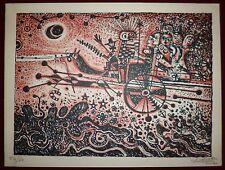 Robert Tatin Lithographie  + 1 dessin encre art brut Cossé le Vivien la frénouse