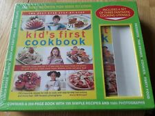 NEW: KIDS FIRST COOKBOOK WITH SET OF 3 UTENSILS 150 EASY RECIPES FREEPOST