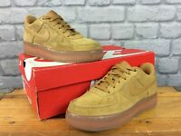 NIKE AIR FORCE 1 LOW FLAX WHEAT SUEDE TRAINERS LADIES CHILDRENS T