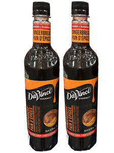 Davinci Gourmet Classic Gingerbread Pain D'epices Beverage Syrup 750 Ml  2 pack