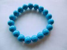 Pulsera de bolas azules de 1cm