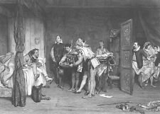 Shakespeare COMEDY PLAY Scene TAMING OF SHREW ~ Antique 1867 Art Print Engraving
