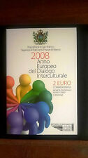 2 Euro San Marino 2008 anno Europeo del dialogo interculturale Сан-Марино