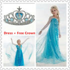 NEW Girls Elsa Frozen Dress Costume Princess Anna Party Dresses Cosplay Princess
