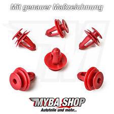 10x Verkleidungsclips Befestigungs Klips für Toyota in Rot | 6777112050