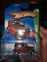 2009 Hot Wheels Red Black 34' Ford Treasure Hunt 06/12 In Protector