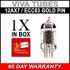 New Reissue Genalex Gold Lion 12AX7 / ECC83 / B759 GOLD PINS Vacuum Tube FREE SH